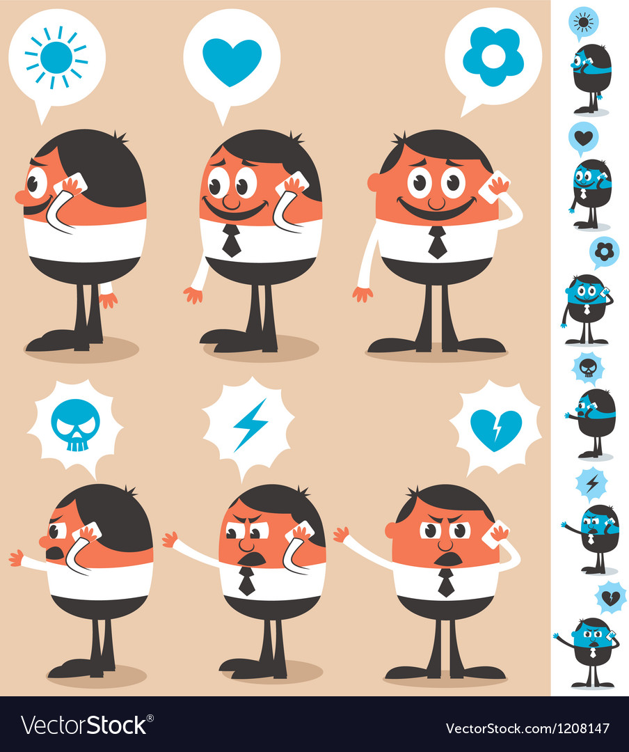 Talking on phone vector