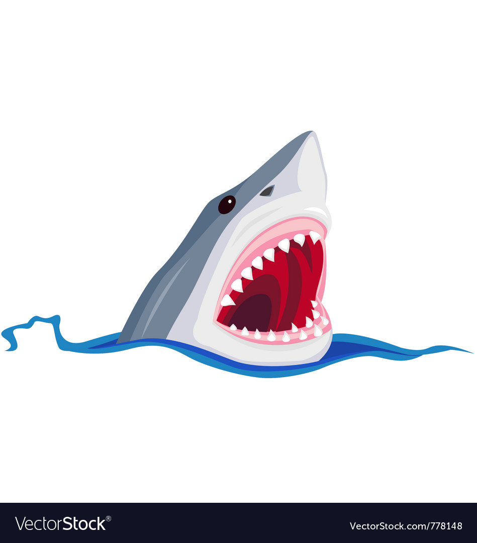Angry shark vector