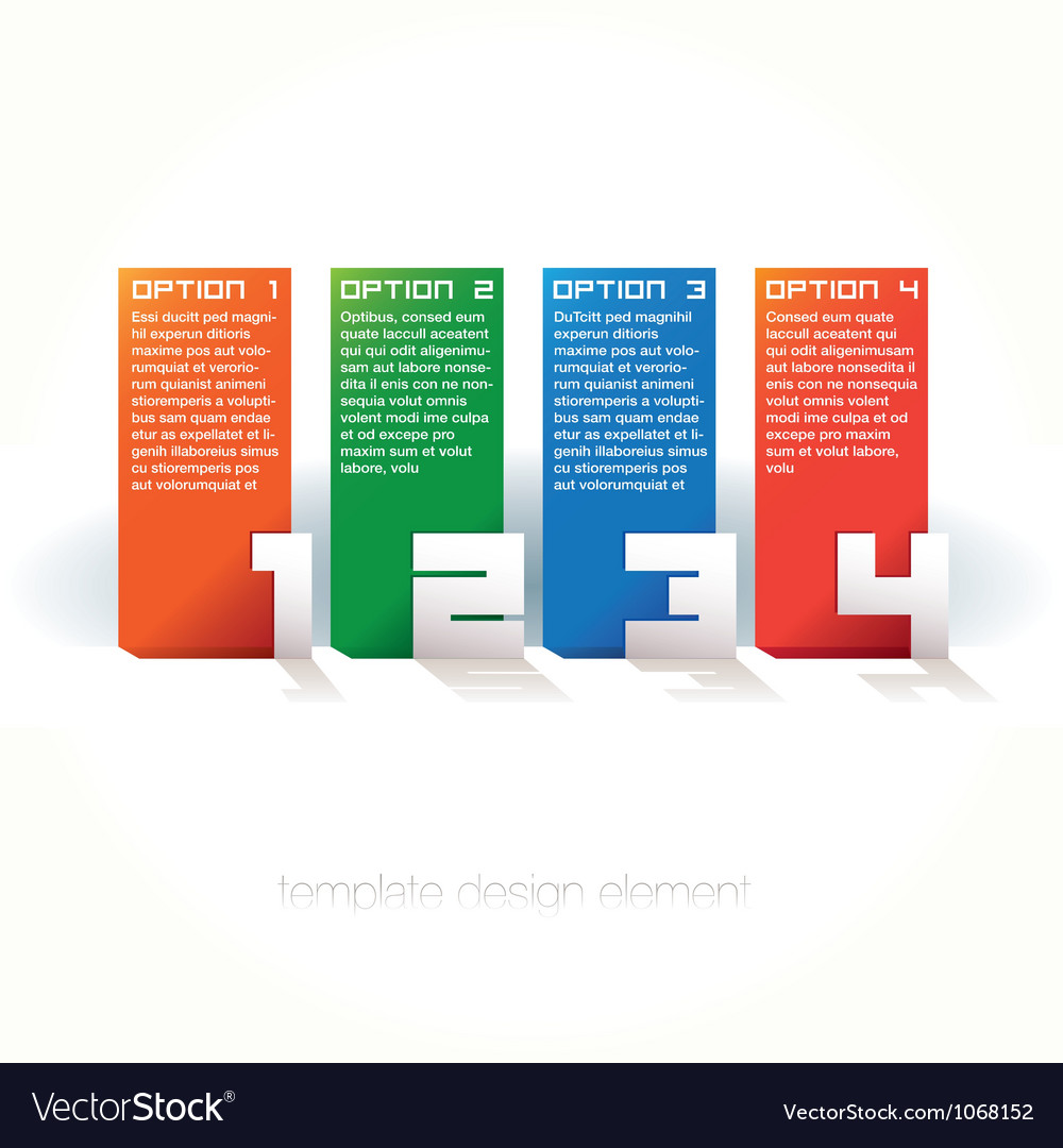 Colorful design templates numbered vector