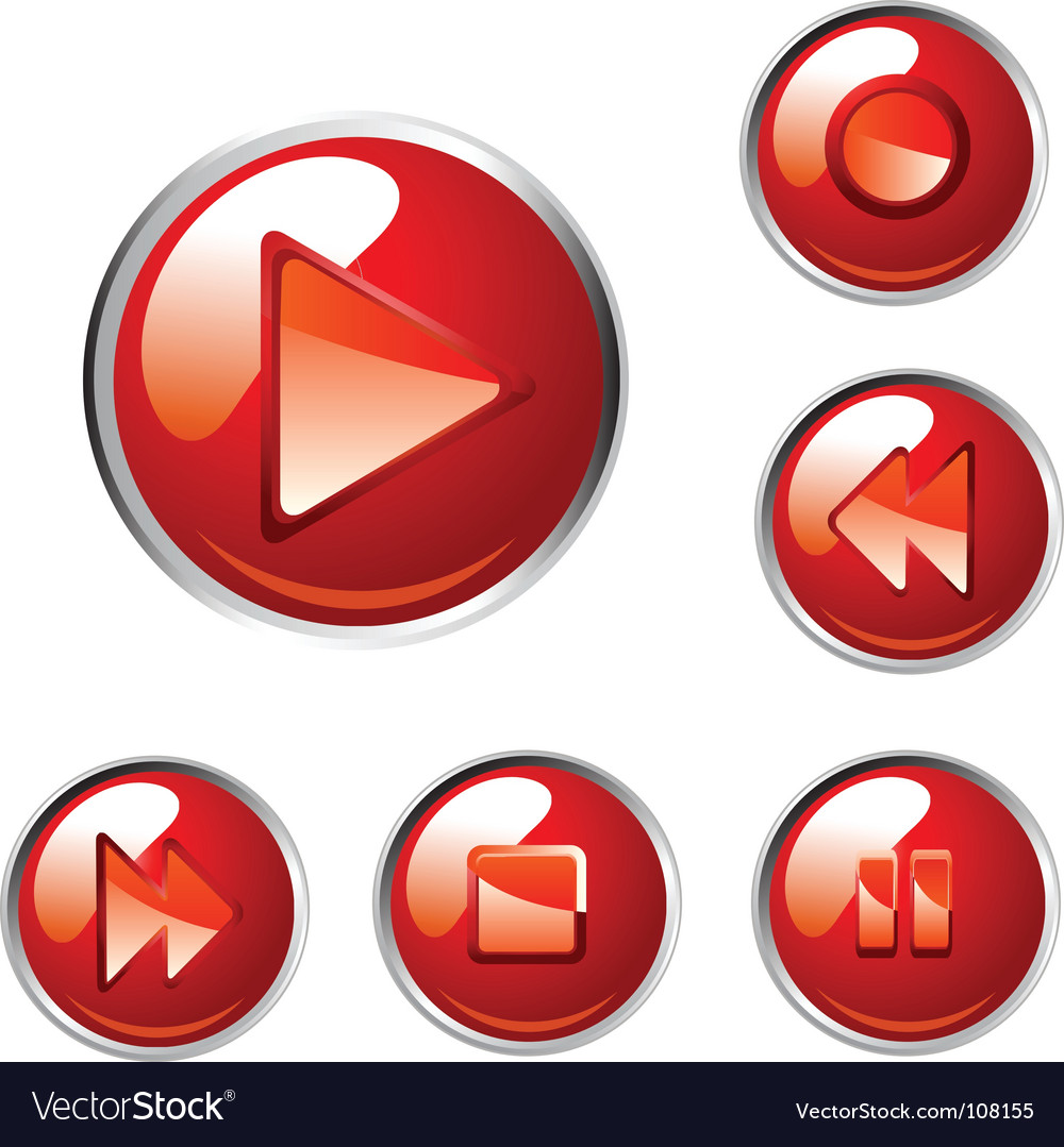 Red buttons vector