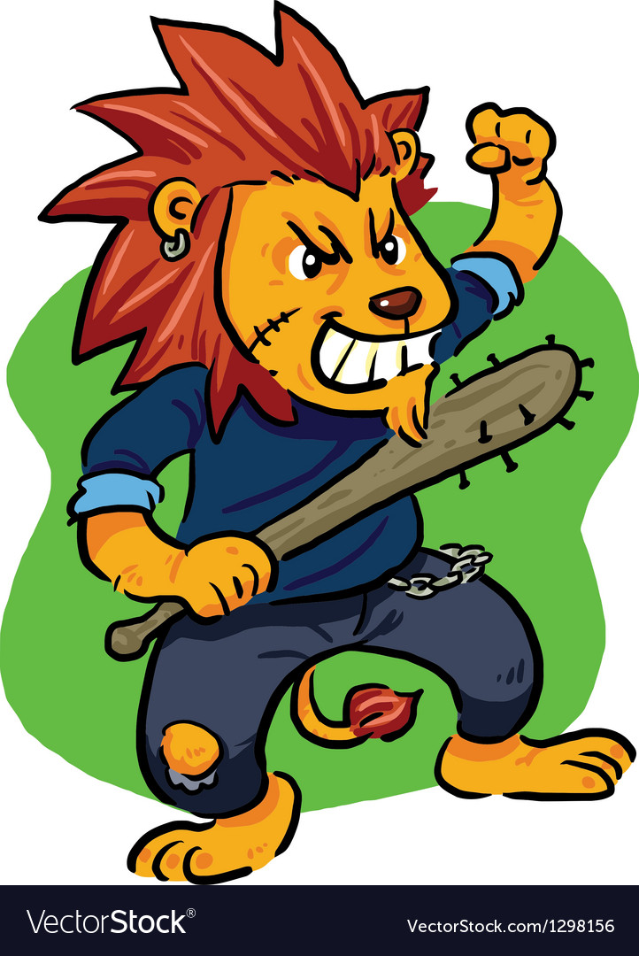 Mad lion vector