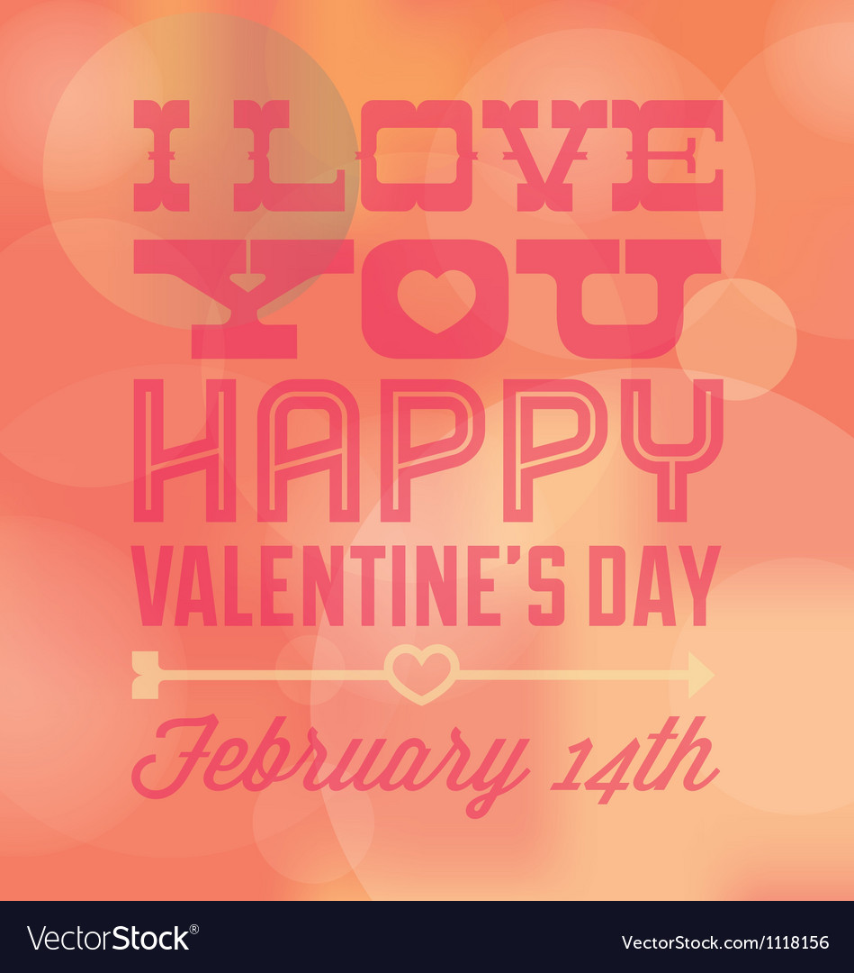 Valentines day i love you card with date vector