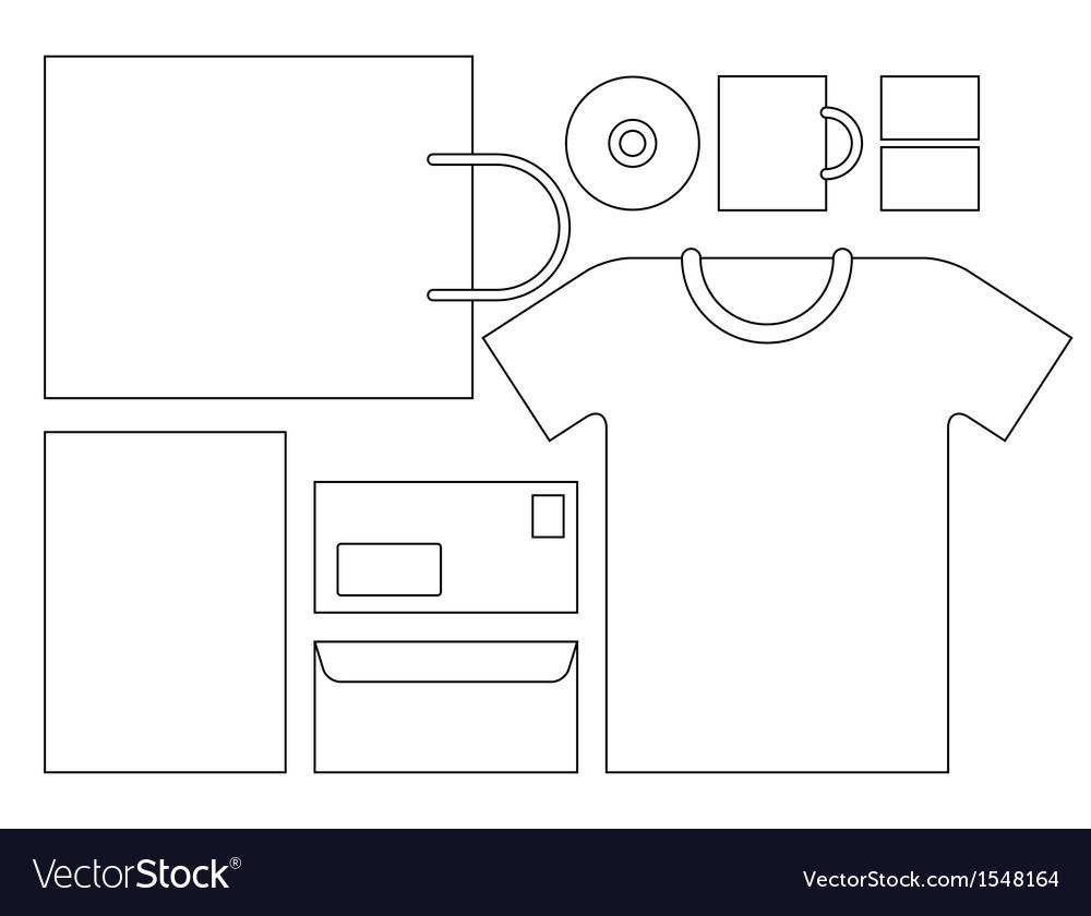 corporate identity template vector by nikolae image 1548164 vectorstock. Black Bedroom Furniture Sets. Home Design Ideas
