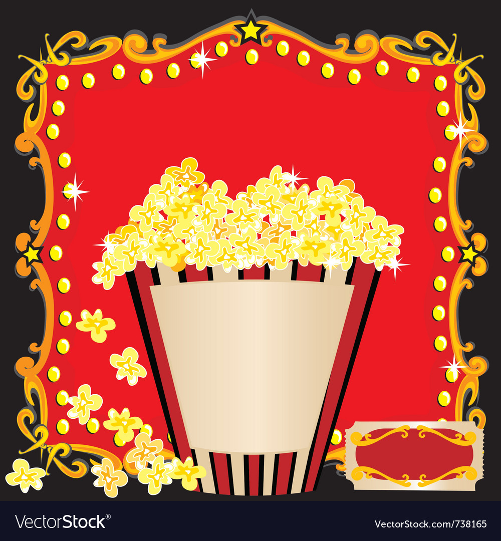 Movie birthday party vector