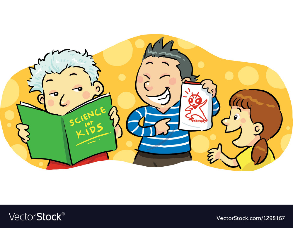 Children study group vector