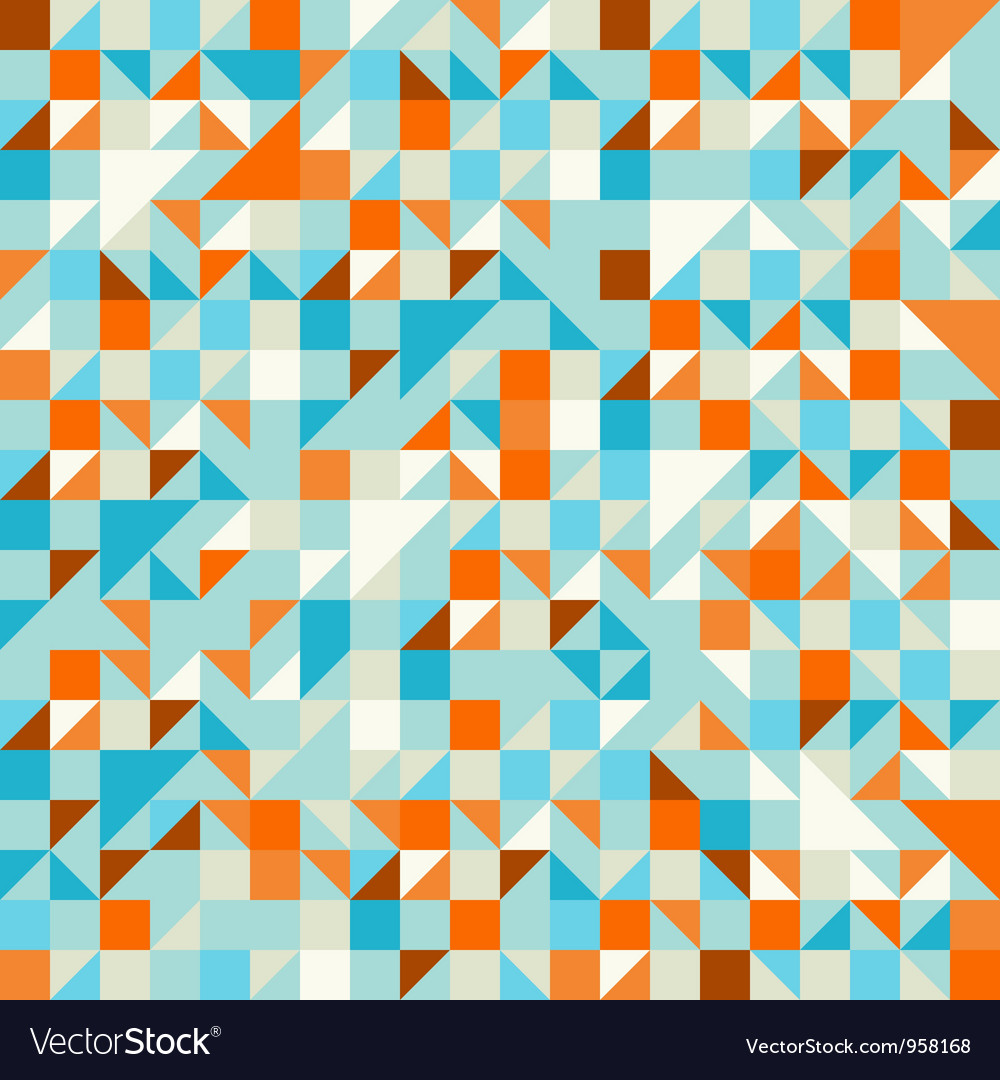 Turquoise green and blue pattern vector
