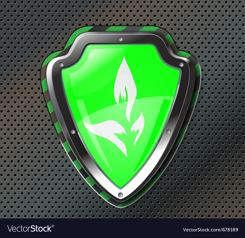 Eco protection shield vector