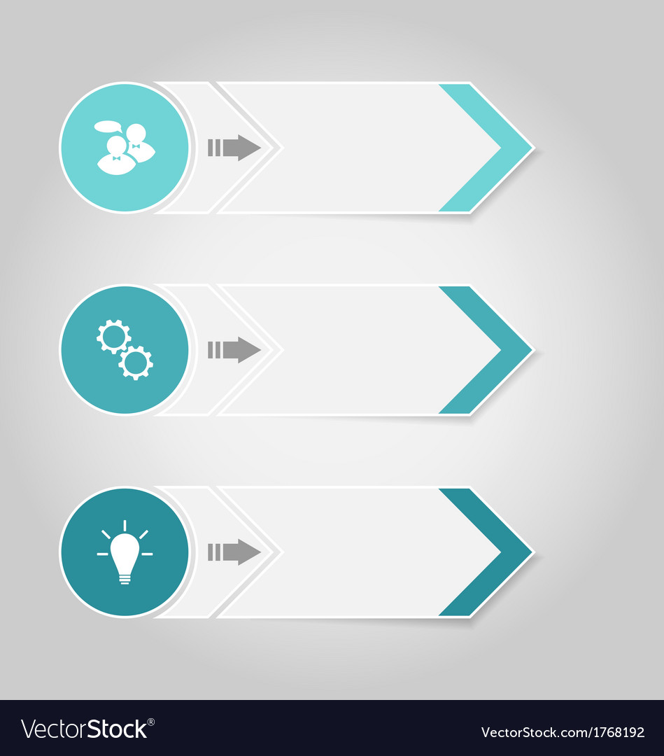 Free set modern design banners with infographics vector