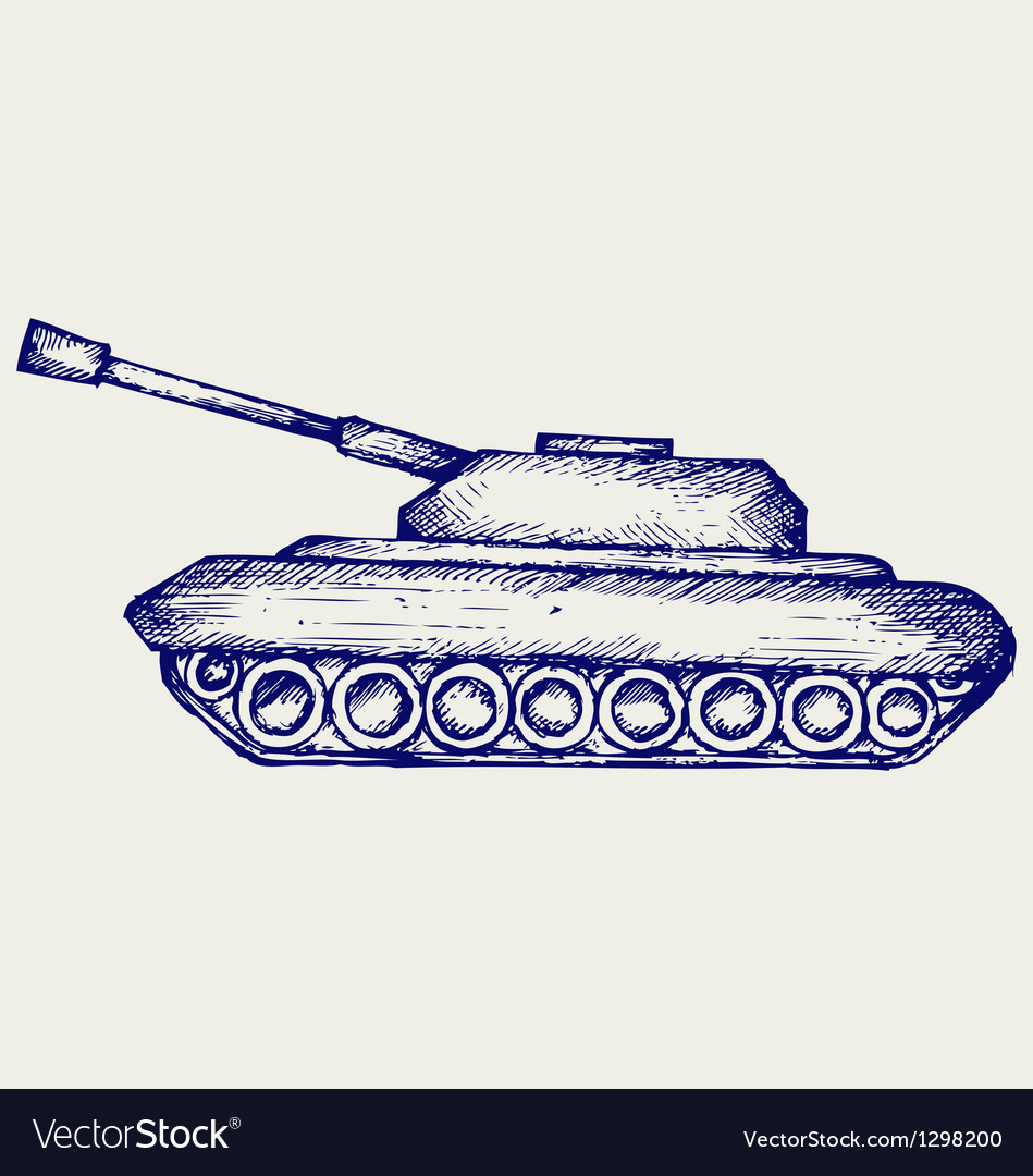 Main battle tank vector
