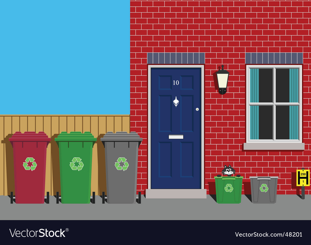 Recycling collection day vector