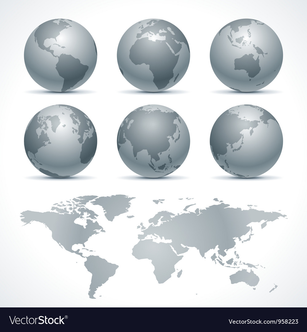 Globe earth icons vector