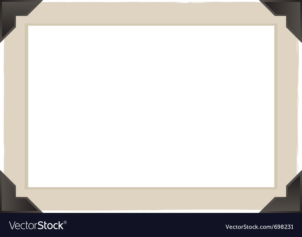 Vintage photo frame design vector