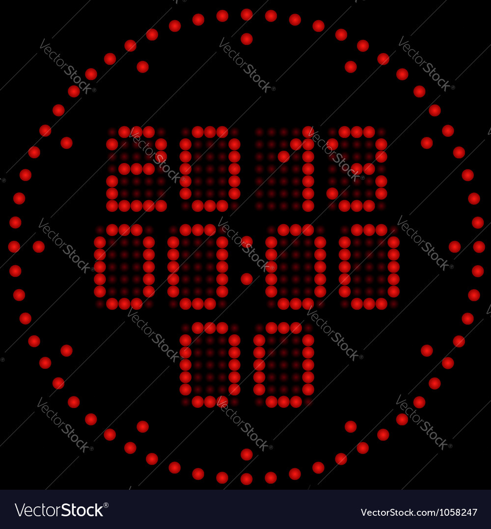 Digital watches vector