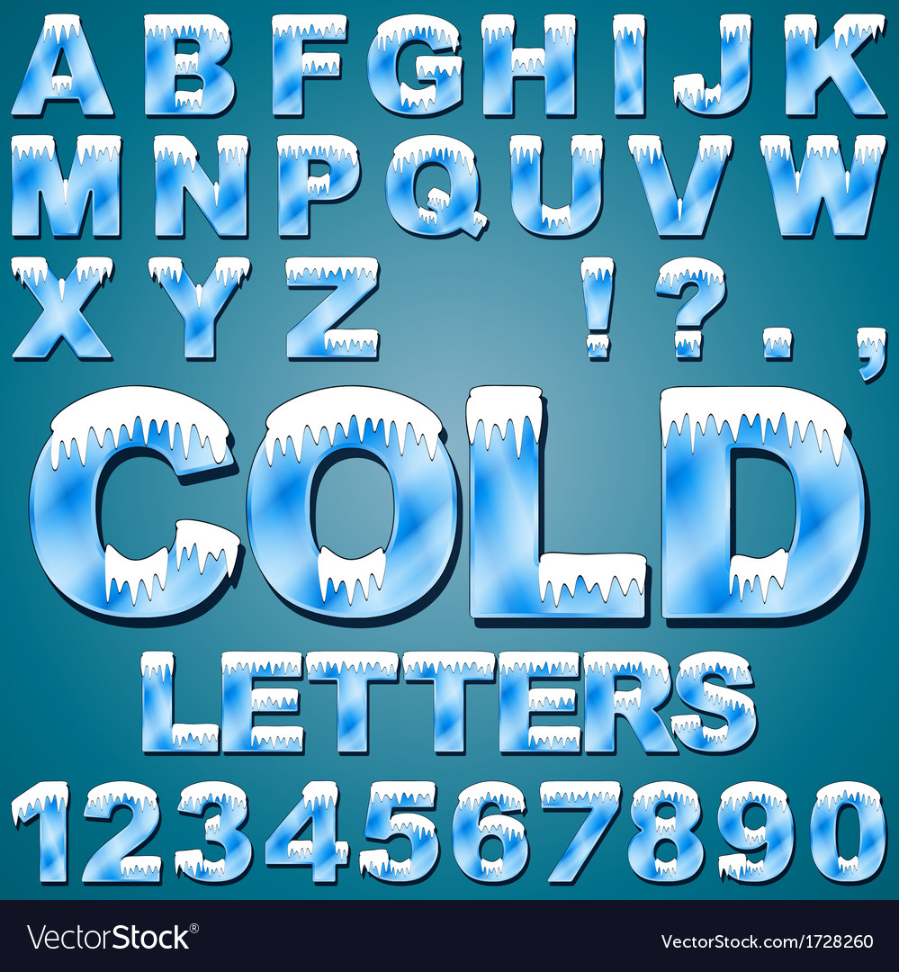 Ice cold letters vector