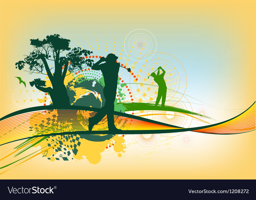 Colorful golf background vector