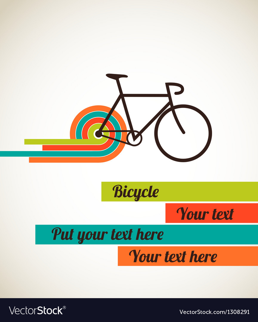 Bicycle vintage style poster vector