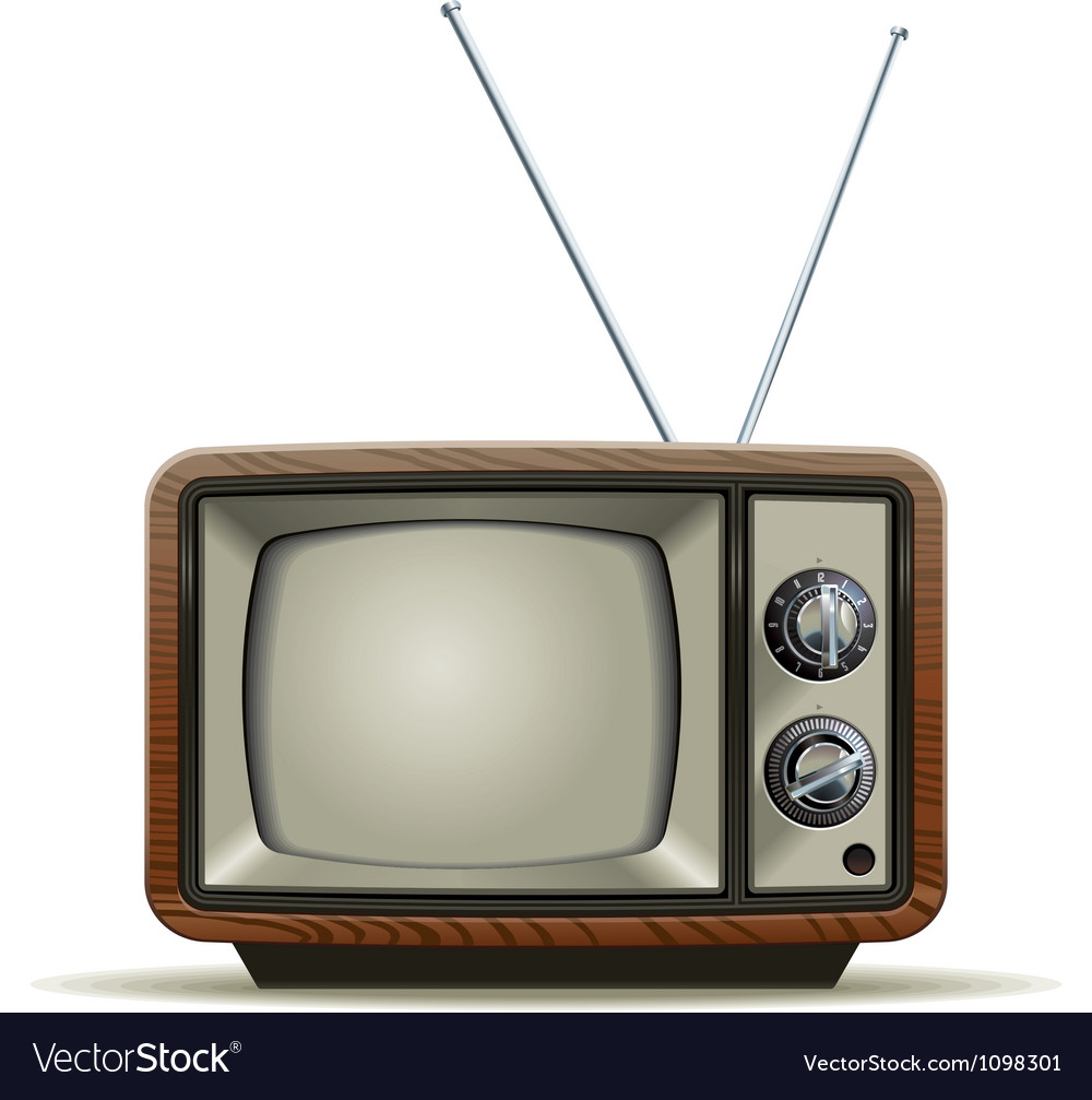 Old tv vector