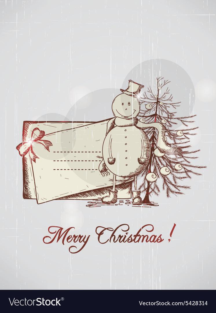 Christmas with snow man
