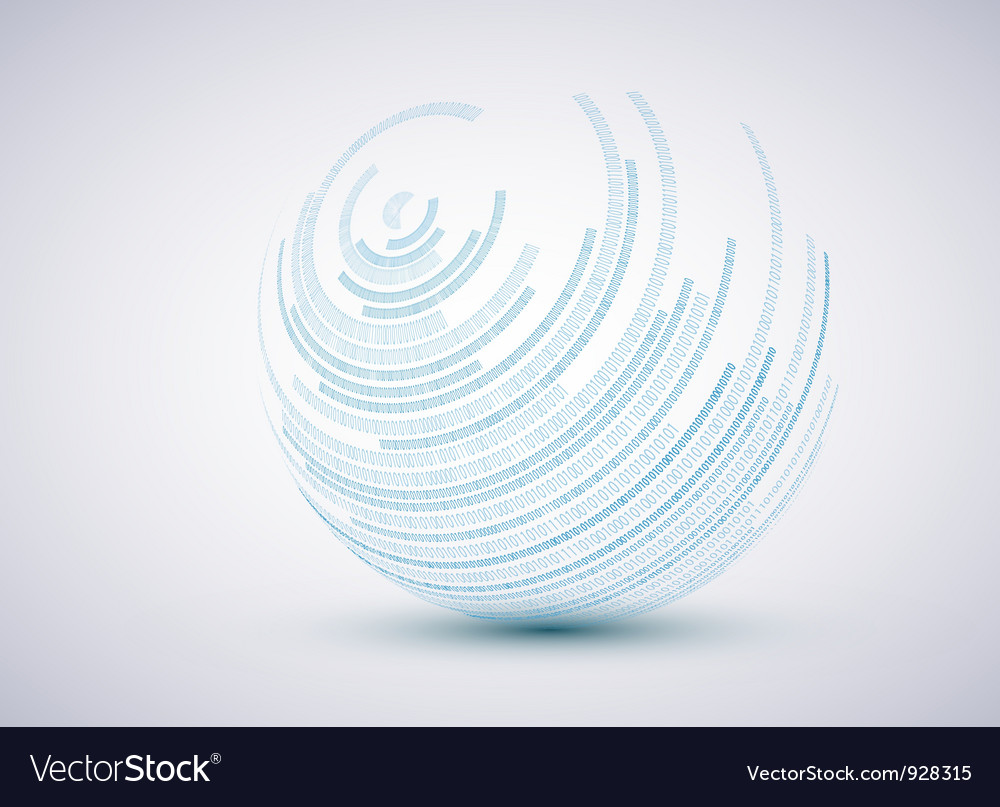 Sphere background vector