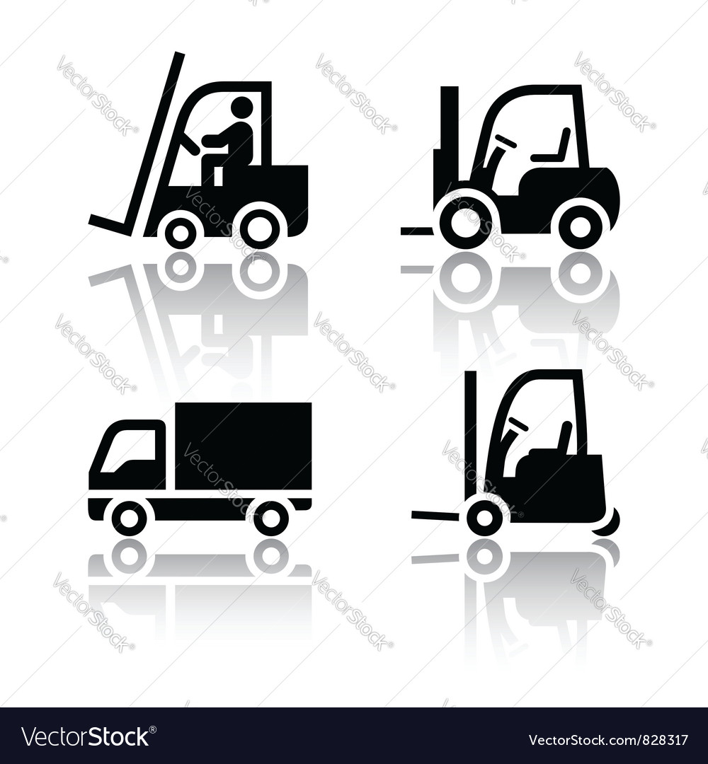 Set of transport icons  loader vector