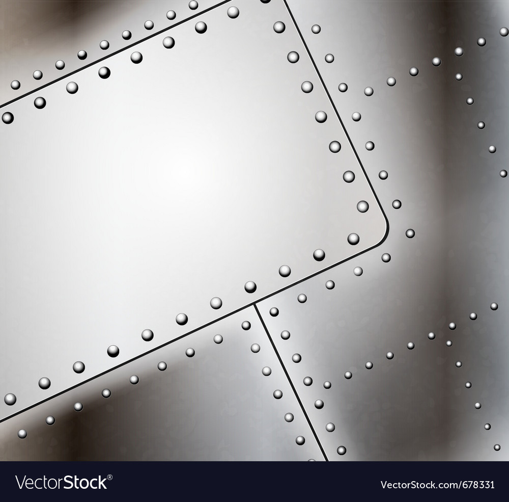 Riveted metal background vector