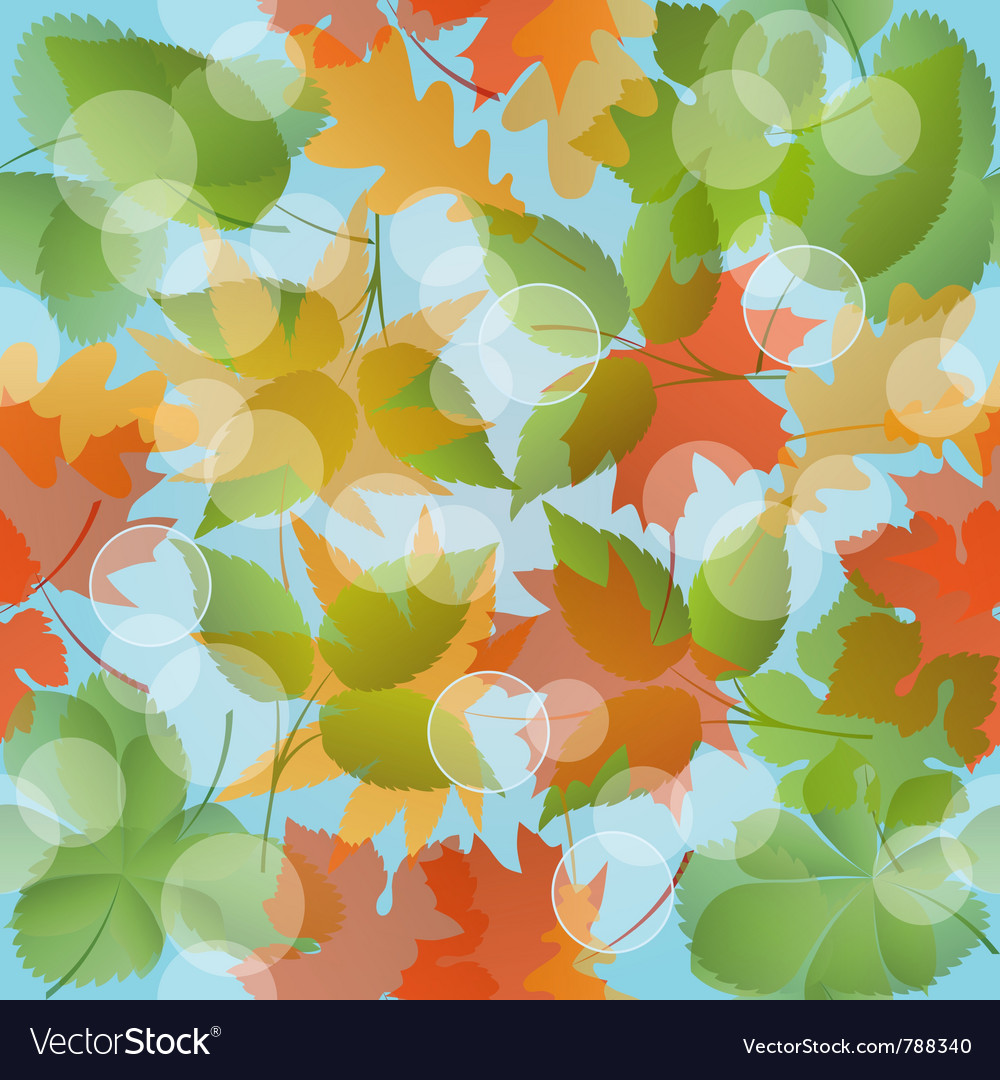 Seamless floral pattern with leaves vector