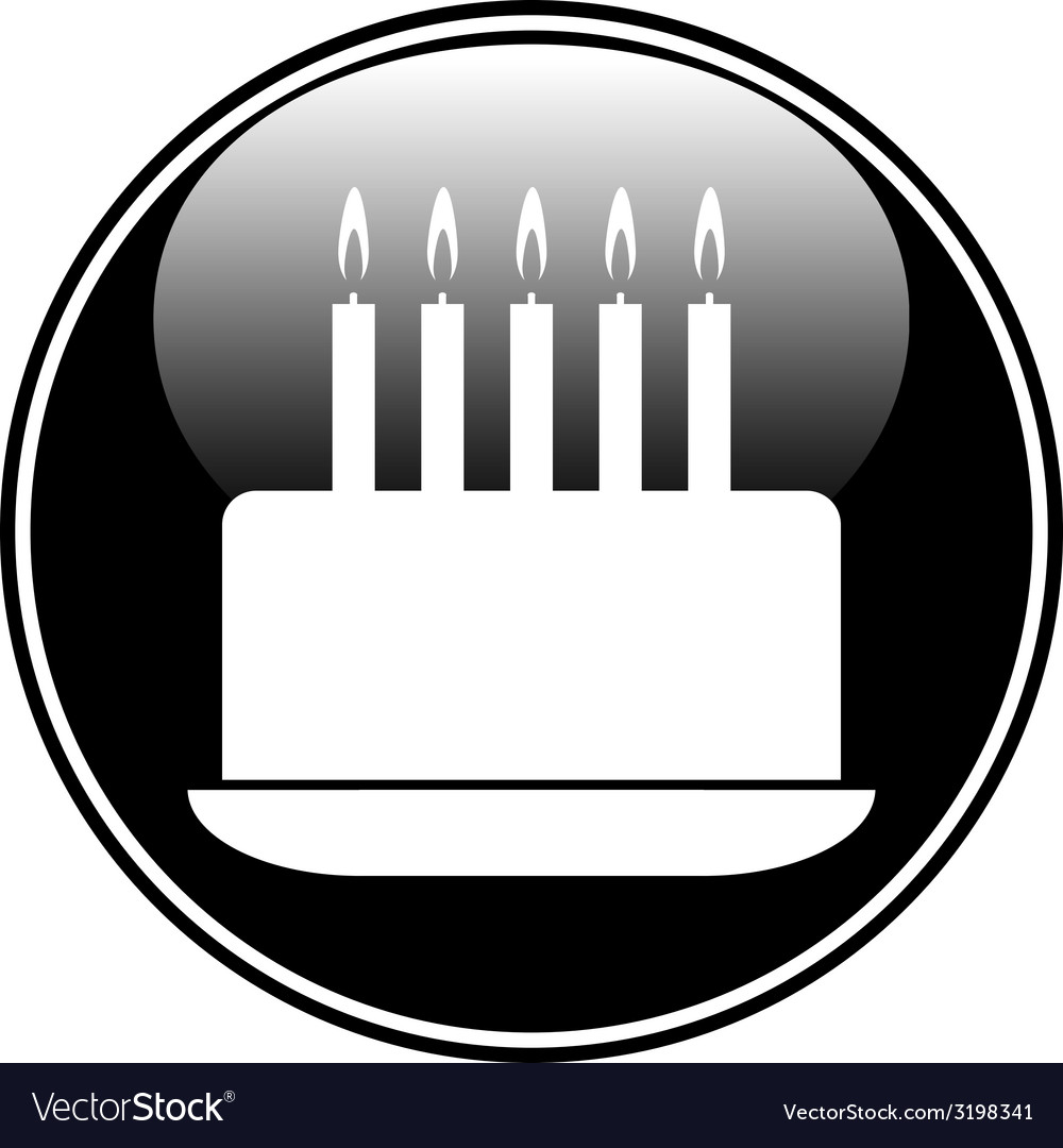 Birthday cake symbol button vector by kks85 - Image #3198341 ...
