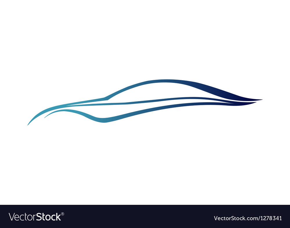 Blue speedy auto logo vector