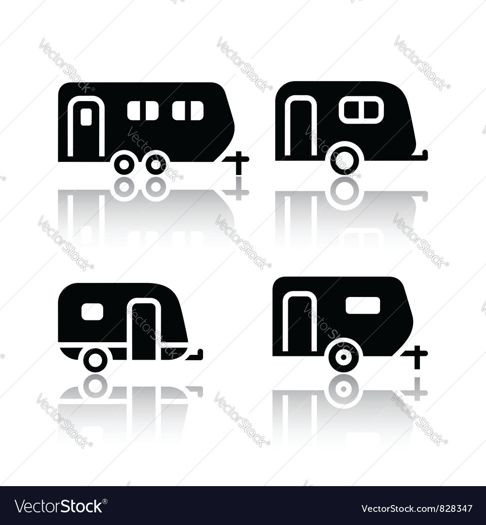 Set of transport icons  trailers vector