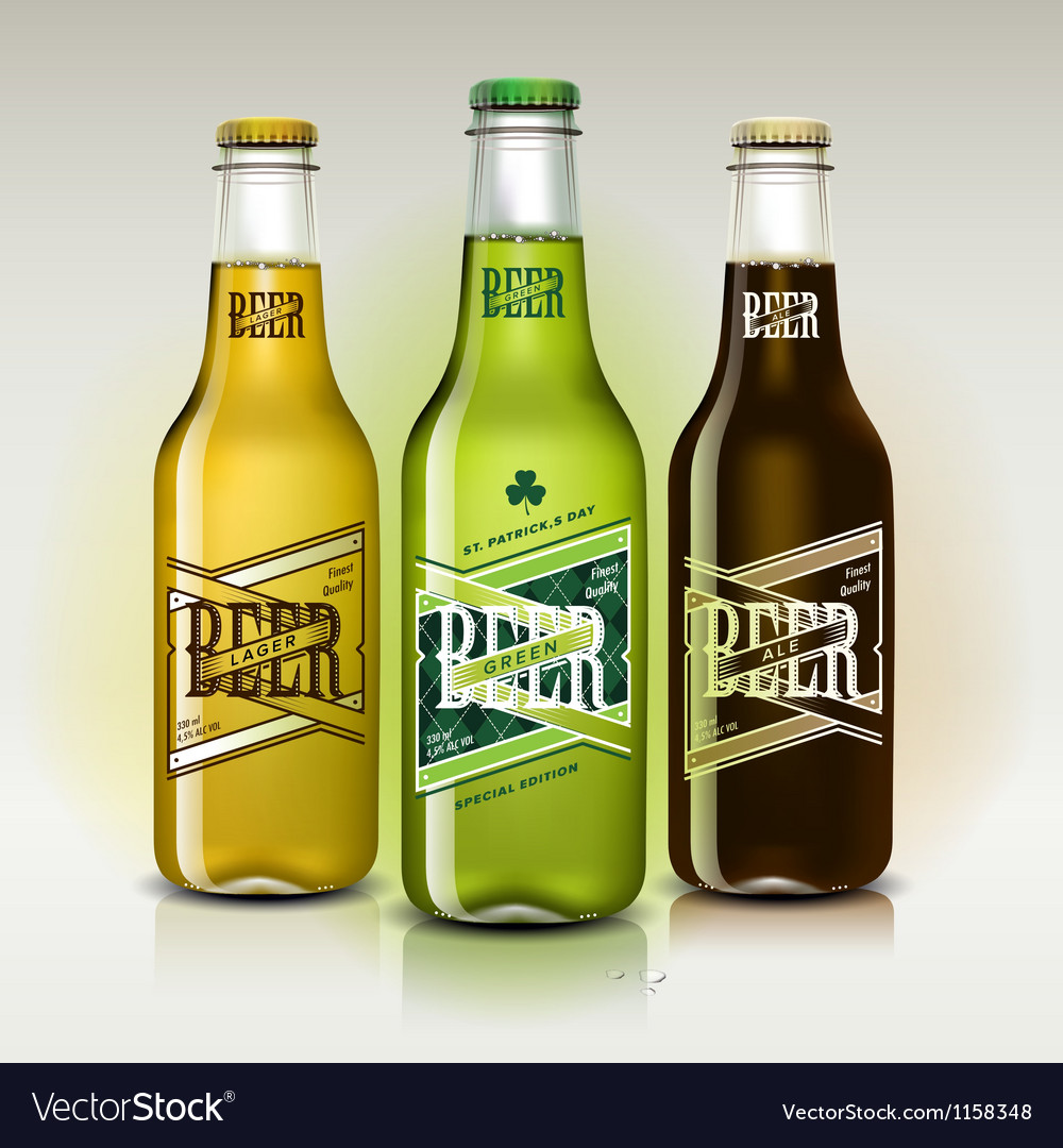 Beer set for st patricks day vector