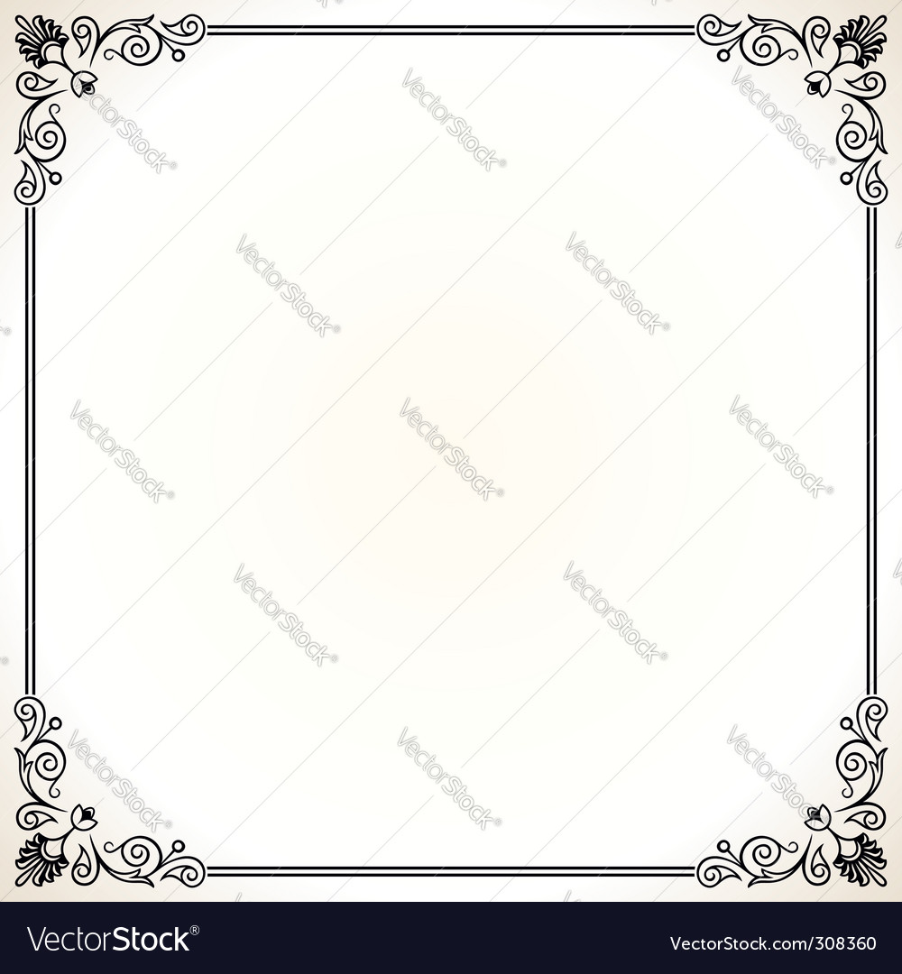 Elegant frame vector by barbulat - Image #308360 - VectorStock