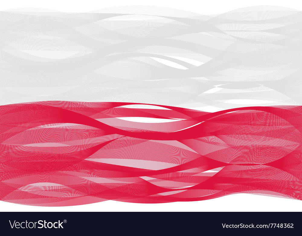 Wave line flag of poland