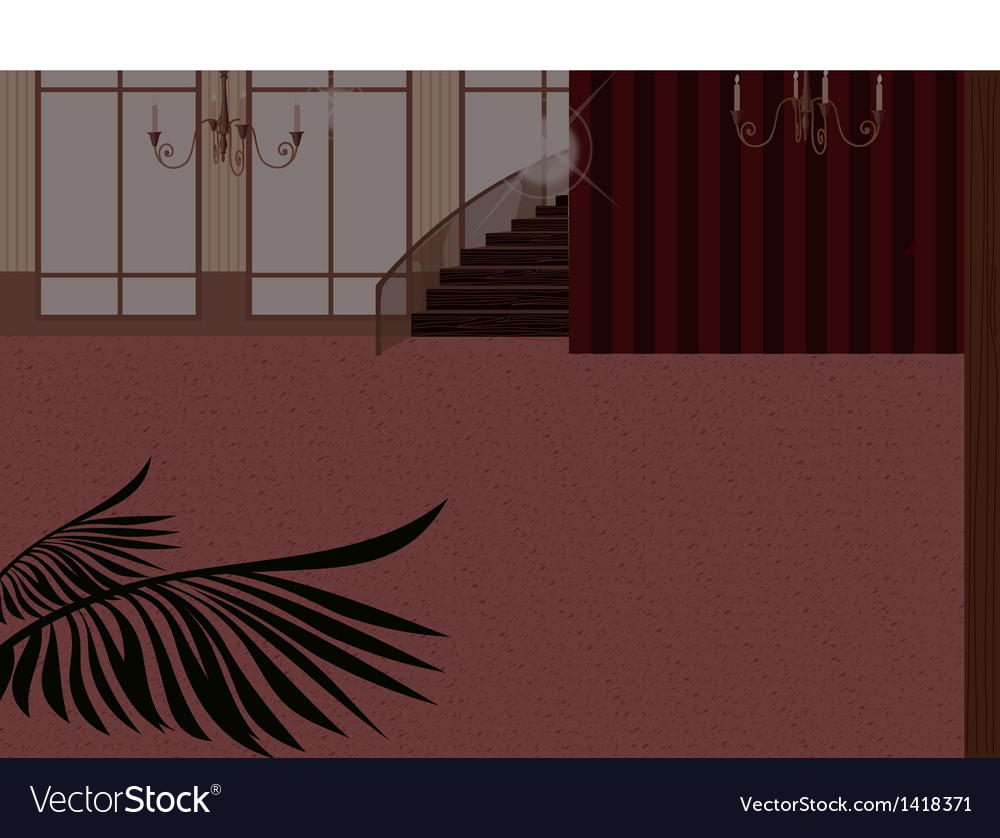 Elegant home interior vector