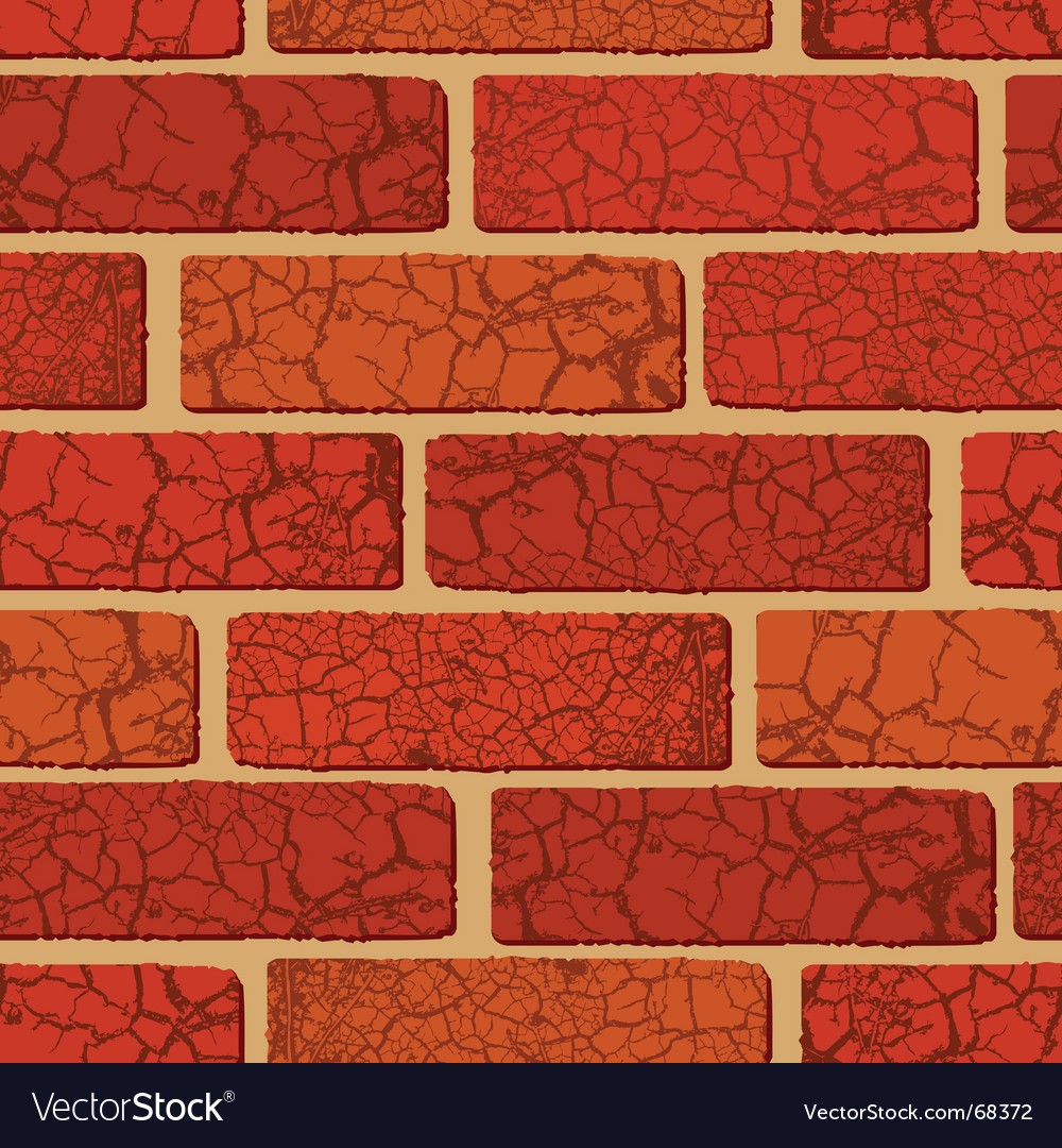 Brick seamless vector