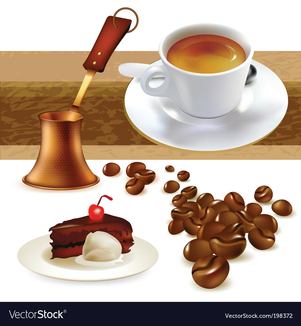 Set of coffee vector