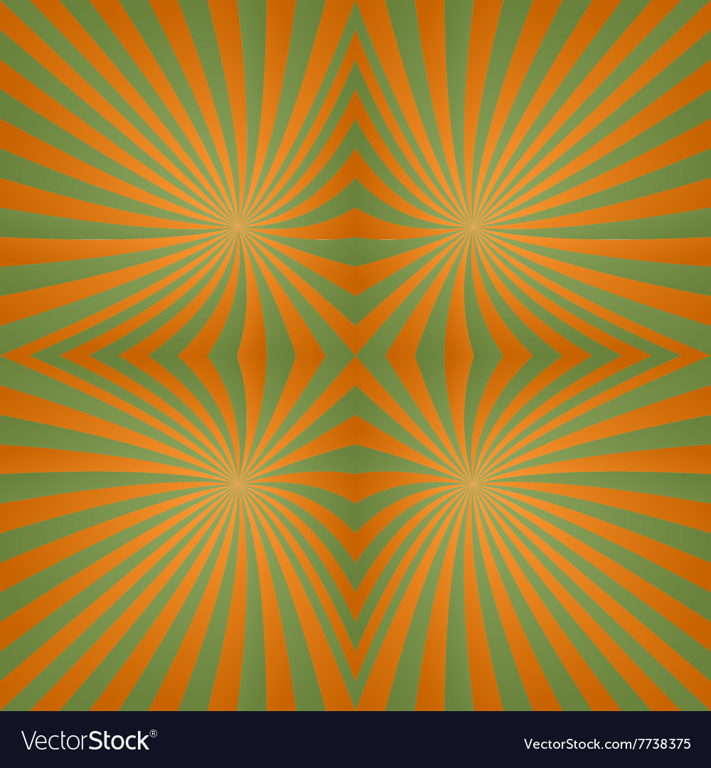 Green orange twisted abstract design