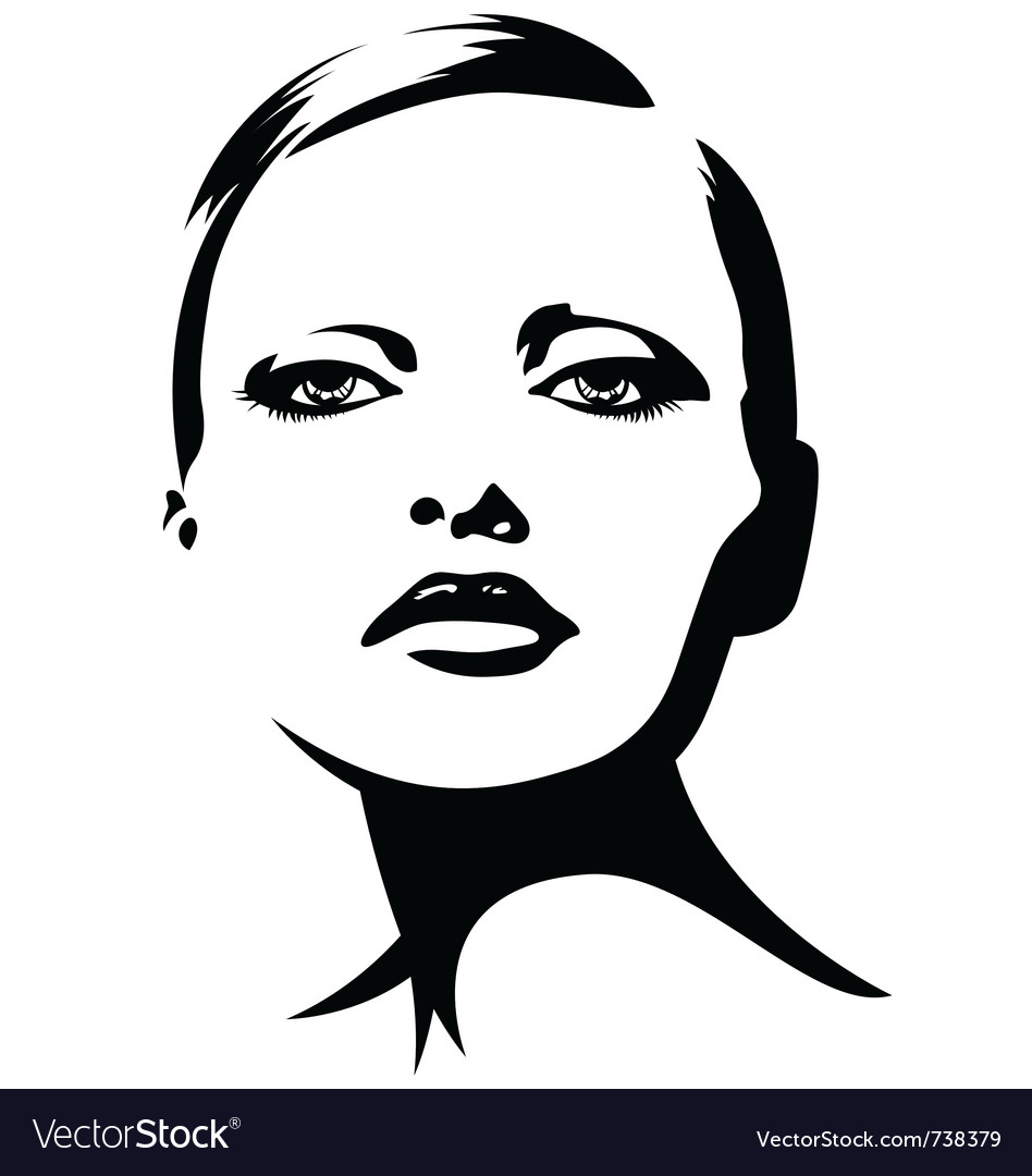 Woman face vector