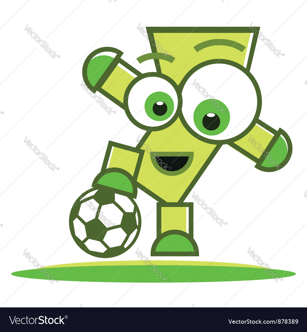 Football player character vector