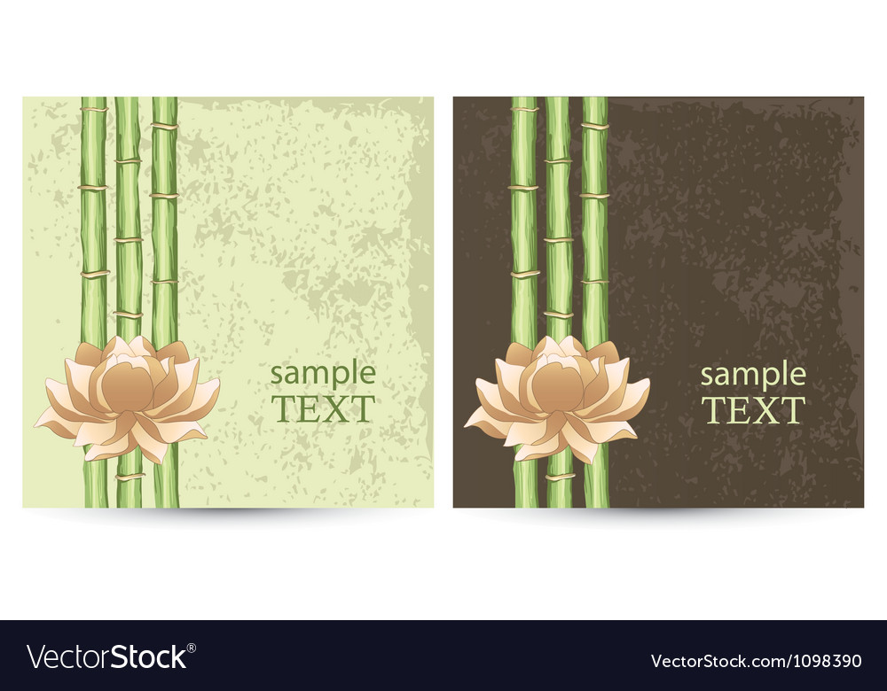 Postcard with abstract floral background vector