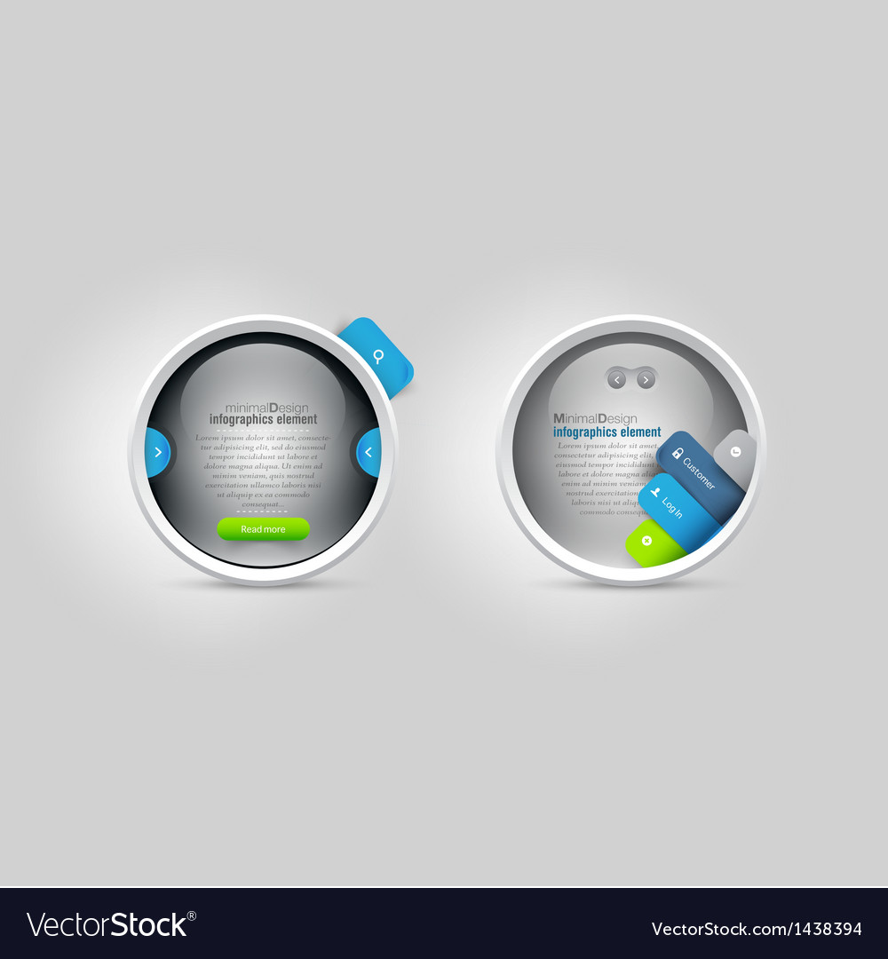 Web site template vector