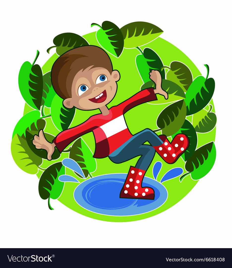 Boy foliage spring