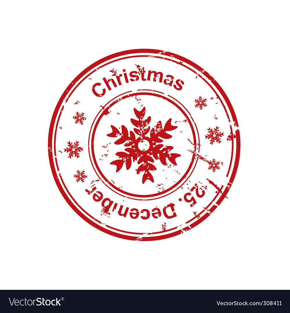 Christmas stamp vector by ika767 - Image #308411 - VectorStock