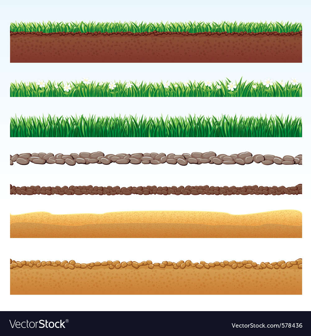 Different seamless grounds vector