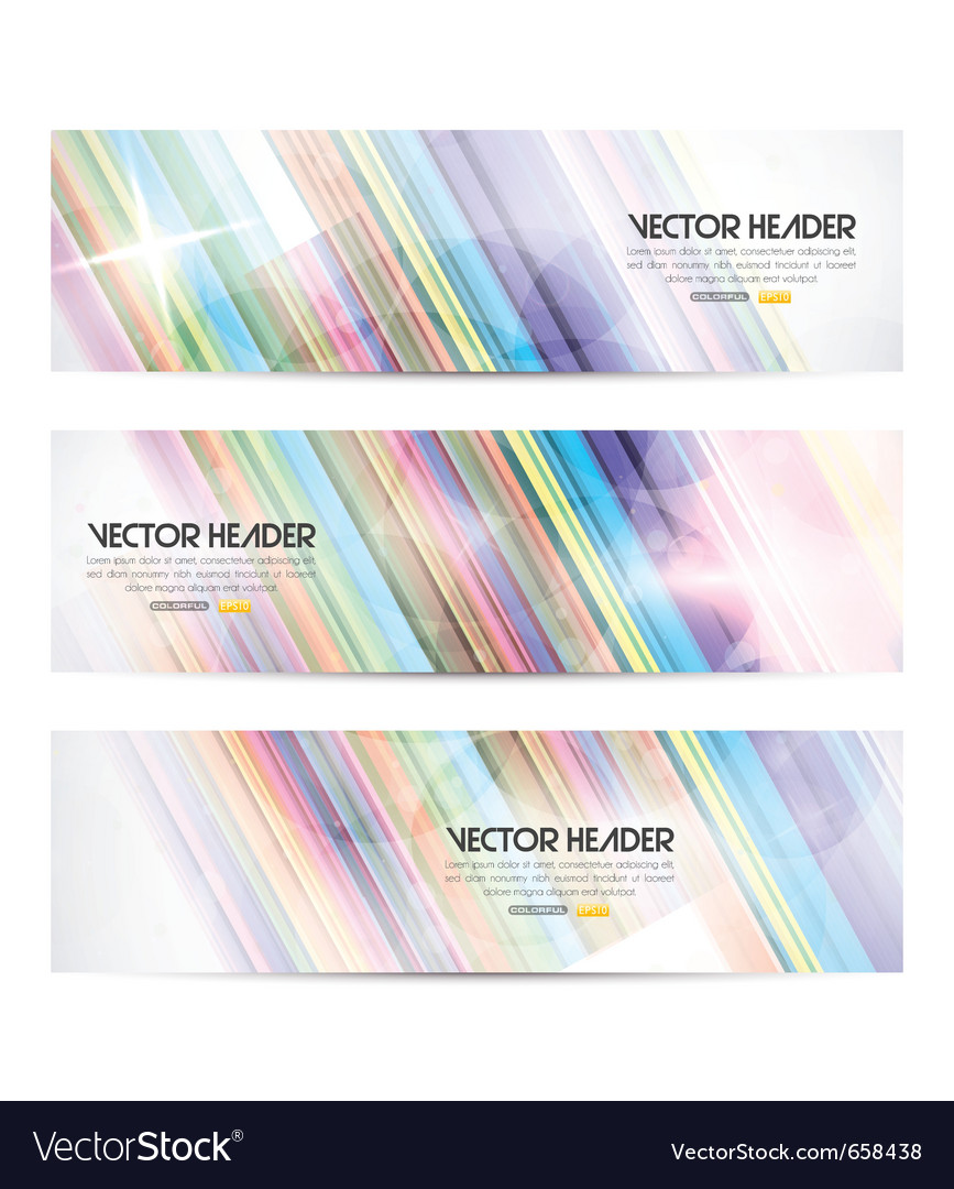Stripes header vector