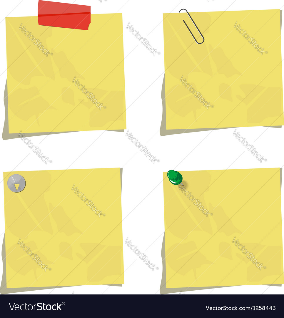 Set of memos vector