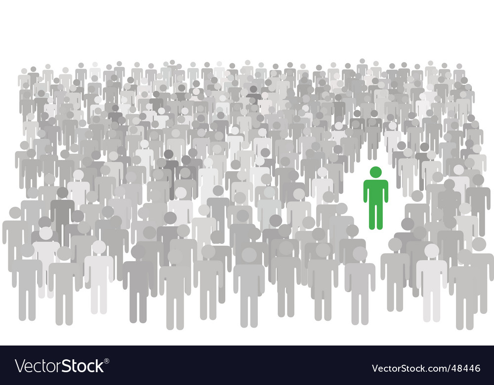 Individual person icon vector