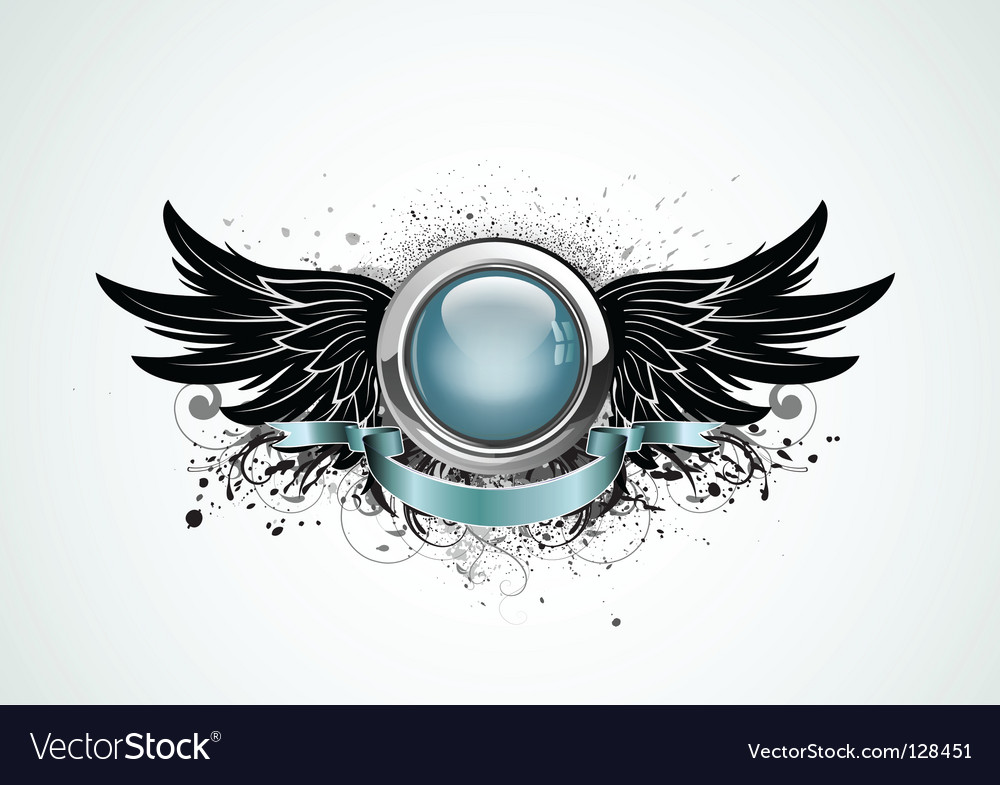Winged insignia vector