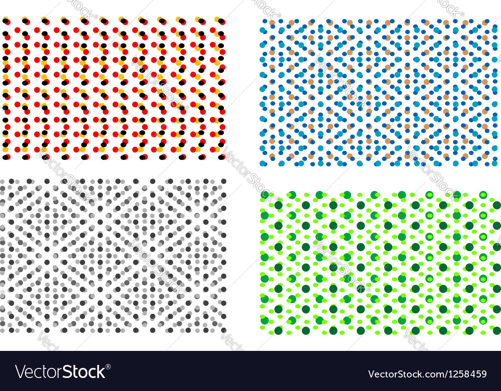 Four colorful backgrounds vector