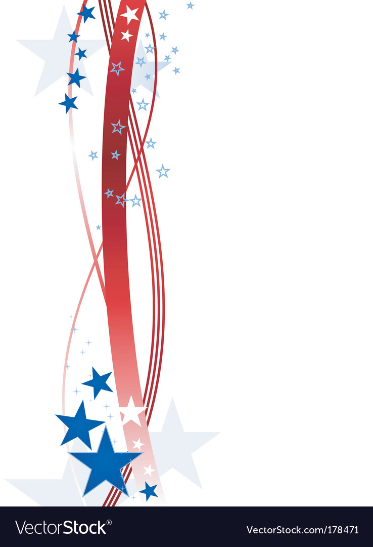 Stars and stripes vector
