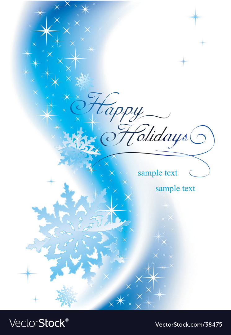 happy holidays vector by azzzya - image  38475